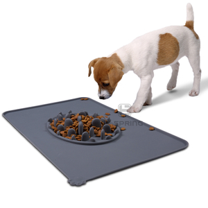 Großhandel Custom Durable Folding Silikon Pet Dog Food Fütterungsmatte mit Slow Food Bowl